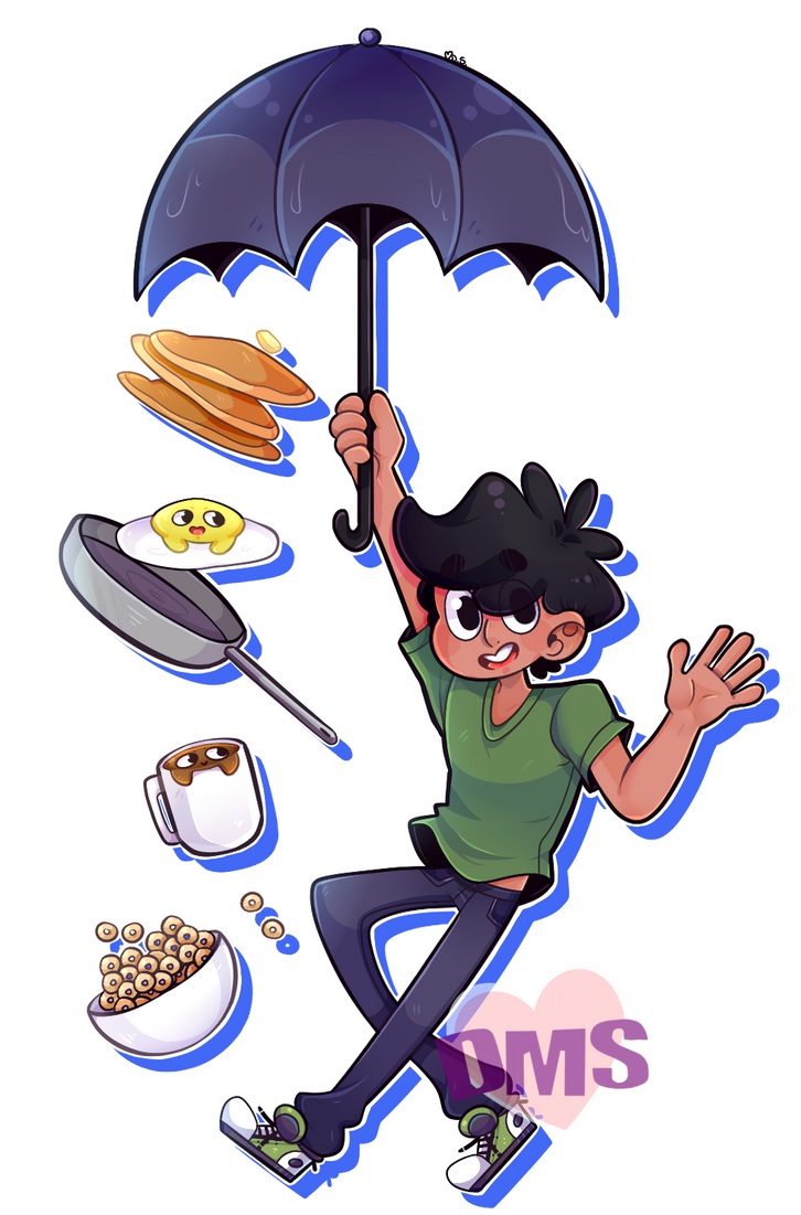 Chris and His Breakfast Friends by DarkMagic-Sweetheart