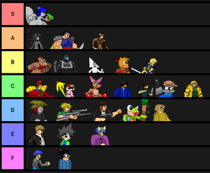 The One And Only Top Tier List by KDgamer015