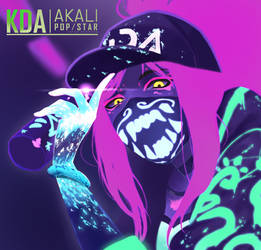 League of Legends : Akali K/DA by IlayCasEather