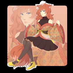 Pink Fox Adopt by Oriiwu