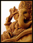 Lord Ganesha-III by derozio
