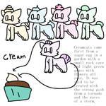 Creamcat Species REF by Spuffycupcake