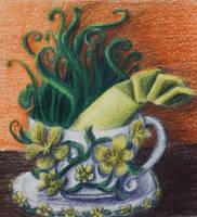Surrealist teacup by jumpingllama2000