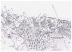 Cavalry Struggle by Hashashin619