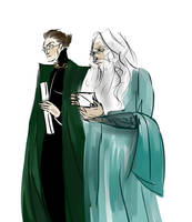 Mcgonagall and Dumbledore by astairhodes