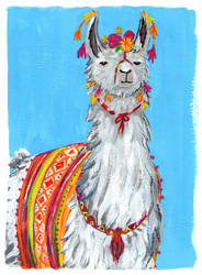 The Amazing Technicolor Llama by sunnyfiny
