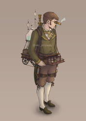 Steampunk Male Character Design by AkiTheBonez