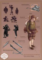 Steampunk Portfolio 2/6 by AkiTheBonez