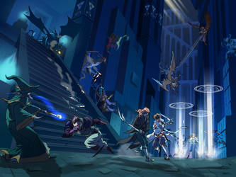 Epic Battle in the Palace Of The Dead by poipopoi