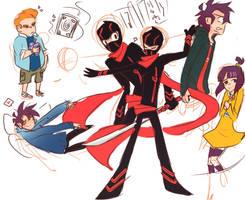 Ninja show doods. by arrival-layne