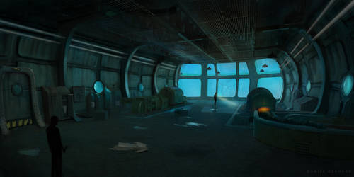 Underwater Station Room by DanielGerhard