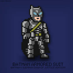 BATMAN Armored Suit Pixel Art by MegoMagdy15