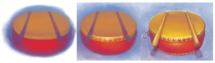 Chinese Drum by BannHuaSingha