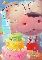 Happy birthday by BannHuaSingha