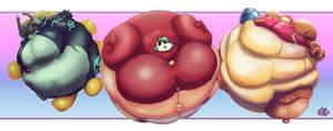 Nintendo-Gal Balloons by QueXBexi