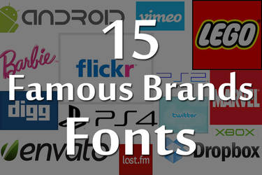 15 Famous Brands Fonts by PxlizMag