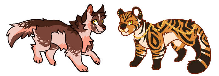 (CLOSED) two adoptables! by chaiteaa