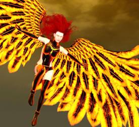 Fiery Flight by bushsbunny