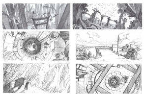 Environmental sketching by JustaBlink