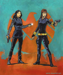 Agents of SHIELD - Melinda May and Black Widow by astridv
