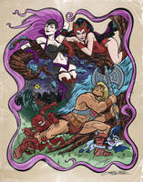 He-man vs the evil Horde by ChrisFaccone