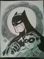 Batman and Robin by ChrisFaccone