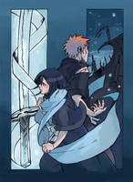 Bleach - Rukia and Ichigo by okanjo