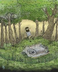 ' Dead car , live mind ' by BeardyPine