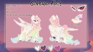 Chroma falls ref sheet by dream--chan