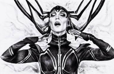Hela the goddess of Death by TimeLadyGirlLDC