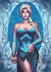 Frozen - Queen Elsa by eHillustrations