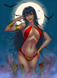 Vampirella - small sfw version by eHillustrations