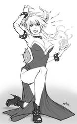 Bowsette sketch by eHillustrations