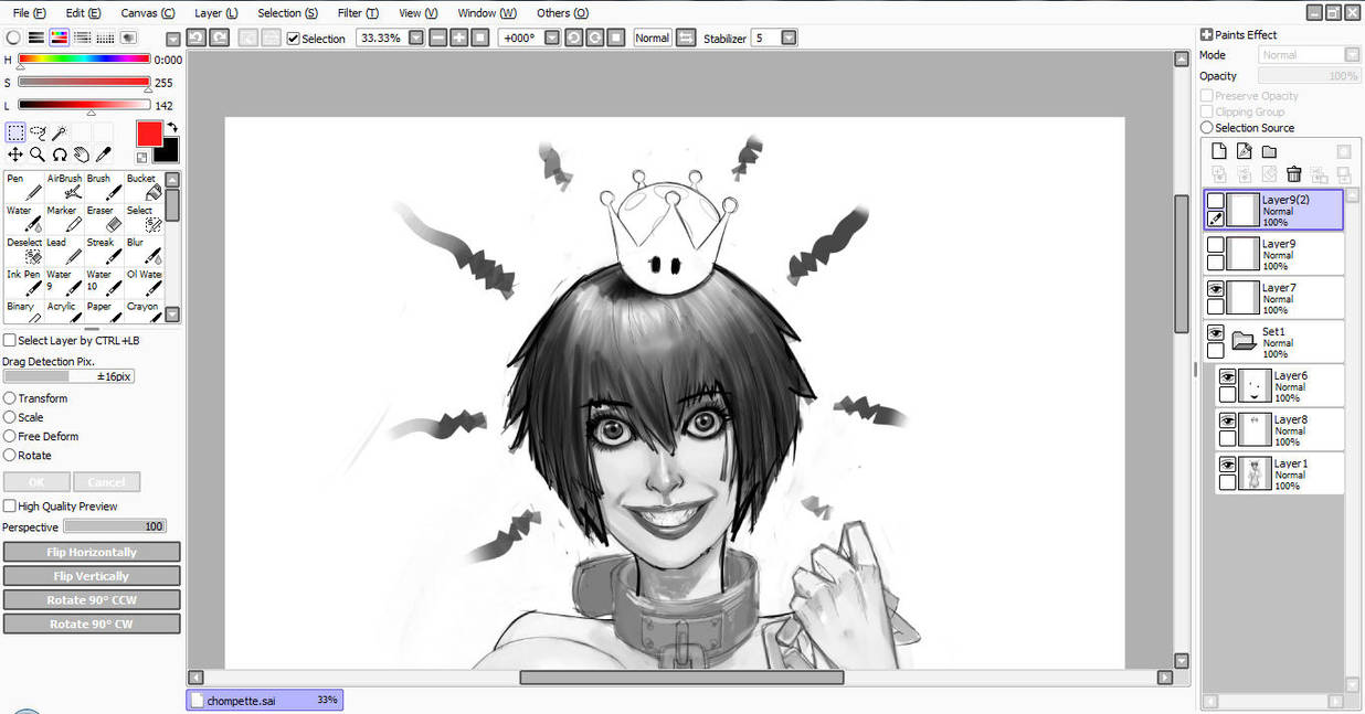 Chain Chompette - Patreon WIP by eHillustrations