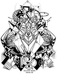 Dark Wolf Tattoo by soteh