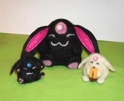 Three Mokonas by aarre-pupu