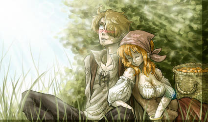 Tangerines and Afternoon Nap by SybLaTortue