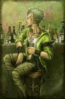 Celebratory Drink by SybLaTortue