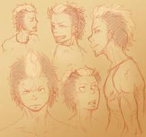 Ryuji sketches by SybLaTortue
