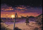 Rowan at the Beach by Caladium