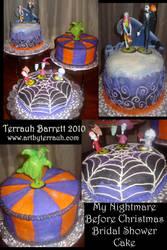Nightmare Before Xmas Cake by Terrauh