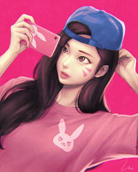 Selfie D.va by umigraphics