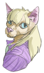 Catto Doodle Not My Character by BASELARDER