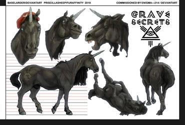 Grave Secrets Ref Sheet Comm for Enigma---214 by BASELARDER