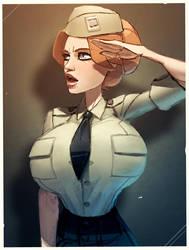 Maggie in uniform by Balsamique