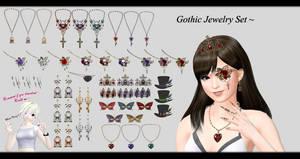 [MMD] Jewelry Set DL ~ by o-DSV-o