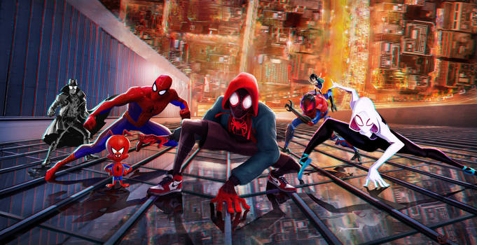 Spider Man Into The Spider Verse Wallpaper By Mintmovi3 On Deviantart