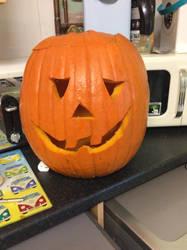 My first Halloween pumpkin by danny14180jason