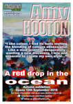 A Red Drop in the Ocean, Exhibition Flyer by amyhooton