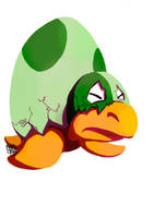 Daily Sketches #150 - Snooze-a-Koopa by boxedcrow